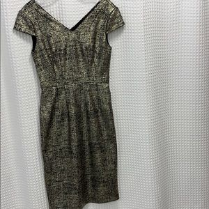 Betsy Johnson Gold/Black Dress (Size 2)